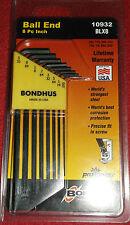 Bondhus Blx8 8 Piece Imperial Long Ball End Hex Allen Key Set 10932