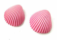 2 x Barbie Pink Real Sea Shell Hair Clips Mermaid Bridesmaid Beach Ariel 6AZ