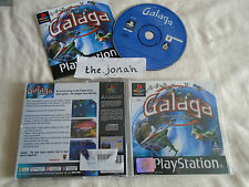 Galaga Destination Earth PS1 (COMPLETE) rare Sony PlayStation black label