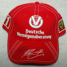 Michael Schumacher Signed Ferrari 2004 7 Times F1 World Champion Cap Hat Proof