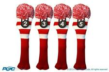 Hybrid classic golf club headcover New 4 pc RED WHITE 2 3 4 5 KNIT Head cover