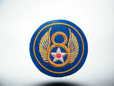 8th Air Force Officers wire bullion badge.