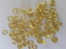 "100 #0 (1/4"" ) solid brass self piercing grommets & washers"
