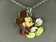 WHIMSICAL & FUN  DISNEY'S LARGE  MICKEY MOUSE  METAL  CHARM NECKLACE