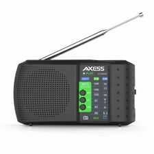 BRAND NEW Axess PR3206 Rechargeable  AM/FM Radio USB/SD Compatible