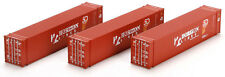 Athearn HO Scale 45ft Shipping Containers Horizon Lines (50 Years) 3-Pack