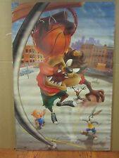vintage looney tunes 1995 Basketball poster Taz Bugs bunny daffy duck 3883