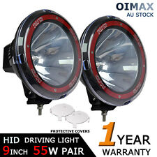 "2PCS 9"" 55W HID DRIVING SPOTLIGHT OFFROAD WORK LIGHT SPOT BEAM 4X4 4WD SUV JEEP"