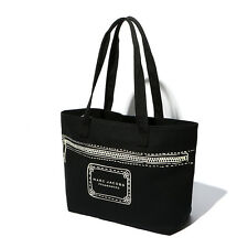 MARC BY MJ DOTTED LINE PRINTING SHOULDER BAG BLACK HAND BAG  CASUAL BAG