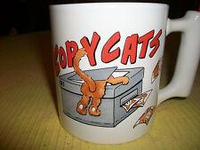 COPYCATS MUG W PENCIL PEN HOLDER COFFEE BEVERAGE TEA CUP DECORATIVE COLLECTIBLE