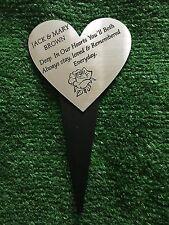 Grabado Corazón Juego Personalizado grave Funeral Memorial árbol Pet signo 44