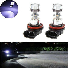 2pcs 6000K High Power H11 LED Fog Driving Light Canbus 60W Lamp Bulb White New