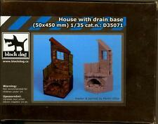 Blackdog Models 1/35 HOUSE with UNDERGROUND DRAIN Resin Diorama Base