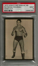 1973 Wrestling Annual #6 Raymond Rougeau Hand Cut PSA 9 MINT Card