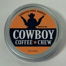 1 Tin Can of Cowboy Coffee Chew Tobacco Free Snuff Snus Copenhagen Skoal Sign