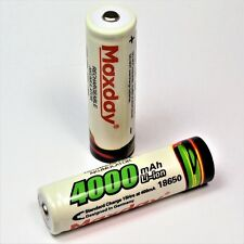 4 x MAXDAY / 4000 mAh  Lithium Ionen Akku 3,7 V / Typ 18650 Li  - ion weiß