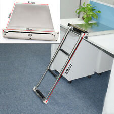 Stainless Steel 3-steps Concealed Box Telescopic Ladder For Boat Marine Superior