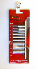 "Teng Tools M1407 Socket. With 1/4"" drive 9 PC DEEP 6 PT SOCKET SET"