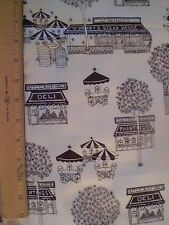 Fabric-Blacfk/Creme Village Shopping Stores -- Deli, Antique Store,Art Gallery
