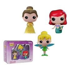 Funko - Pocket POP: Disney 3pc Tin - Princesses Belle, Tinkerbell Little Mermaid