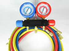 """MANIFOLD WITH 60"""" SET OF HOSES CELSIUS SCALE FOR R134A-R22-R404A-R410A"""