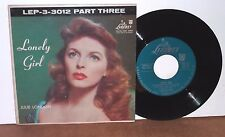 JULIE LONDON WITH AL VIOLA LONELY GIRL PART THREE  EP+COVER