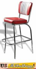 BS-40 Red Bel Air Barhocker Diner Theke Bar Stuhl Fifties Amerika Style USA 50´s