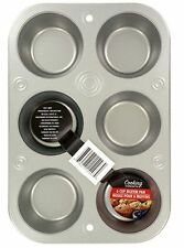 6-Cup Muffin Cupcake Cooking Pan Heavyweight Steel Bakeware Baking Muffins Cup