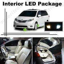 White LED Lights Interior Package Kit for Toyota Sienna 2011-2014 (11 Pcs )