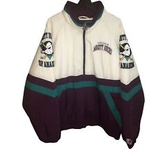 Vtg Anaheim Mighty Ducks Starter Sz XL Puffer Pullover Jacket 90s NHL Hockey