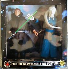 "STAR WARS 1:6 JEDI LUKE SKYWALKER & BIB FORTUNA COLLECTOR SERIES 12"" FAO SCHWARZ"