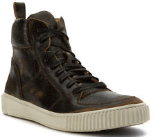 John Varvatos Sanded & Painted Resilient Suede High-Top Sneakers 9.5 US New