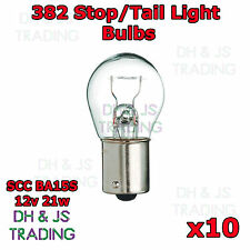 10 x 382 Rear Brake Tail Light Bulbs Car Auto Van Bulb VW Golf MK5 MKV 04-08