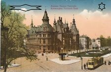CPA - TRAMWAY - ANVERS - Banque Nationale - Vierge - Couleur - Année 1910 - 1920