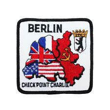 "Berlin Wall ""Checkpoint Charlie"" Patch Cold War Site Souvenir Sew-On Applique"