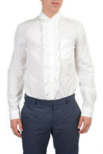 Prada Men's White Dress Shirt SZ US 15 1/2 IT 39