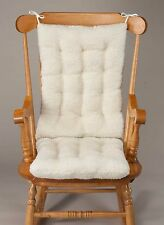 Sherpa Rocking Chair Cushion - Natural White Soft Furniture Covers Pads Nice
