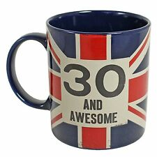 Union Jack Vintage Classic Style Mug - 30th Birthday Gift - 30 and Awesome