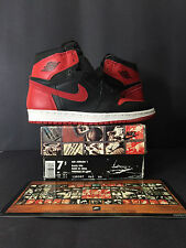 1994 DS NEW NIKE AIR JORDAN I 1 RETRO BRED MEN 7.5 WOMEN 9 BLACK RED 7 8 8.5 9.5