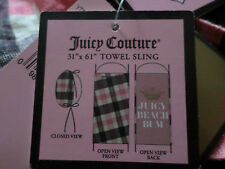 juicy couture BEACH TOWEL & CARRY BAG STUNNING NWT! RARE HTF ONLY 1 ON EBAY