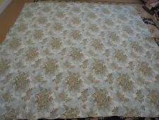 Nice Blue & Brown Whole Cloth Flower Pattern Quilt