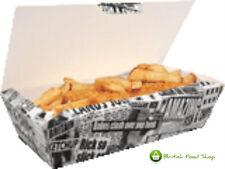 10 grande carta da giornale Fish & Fish and Chips di fast food DI CARTONE imballaggio Take Away