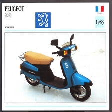1983 Peugeot SC 80cc Honda Scooter Moped Motorcycle Photo Spec Sheet Info Card