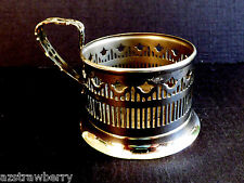 Vintage Royal Rochester pierced Art Deco Silver plate Tea Glass Cup holder