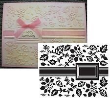 Flowers Embossing Folders GARDEN RIBBON ULT CRAFTS Cuttlebug Compatible folder