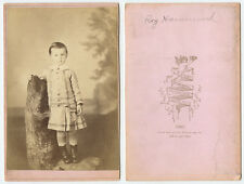 CAB PHOTO OF A BOY NAMED ROY HAMMMOND, 1881, IDED ON BACK FROM ELGIN, IL
