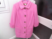 BEAUTIFUL PINK COAT WOOL MIX BY PER UNA SIZE 16 LINED Marks & Spencer