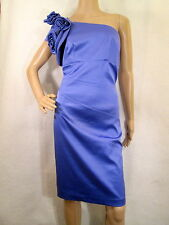 NWT JESSICA SIMPSON Blue Iris One Shoulder Sheath Dress Size 14W, MSRP $168