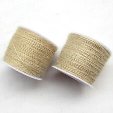 1Roll (100M)Twisted Burlap Jute Twine Rope Natural Hemp Linen Cord String Z0408