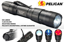 Pelican 7600 3-Color LED Li-Ion Rechargable Dual Fuel Black Tactical Flashlight